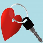 stock photo of car key  - Love the Car - JPG
