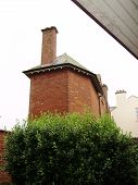 picture of oddities  - corners on a residential building aspiring to height but portraying very little space - JPG