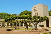 stock photo of punchbowl  - The National Memorial Cemetary of the Pacifice  - JPG
