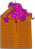 pic of interoffice  - A monster sticking out of an interoffice mail envelope - JPG