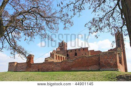 Castle in Radzyn Chelminski.Poland