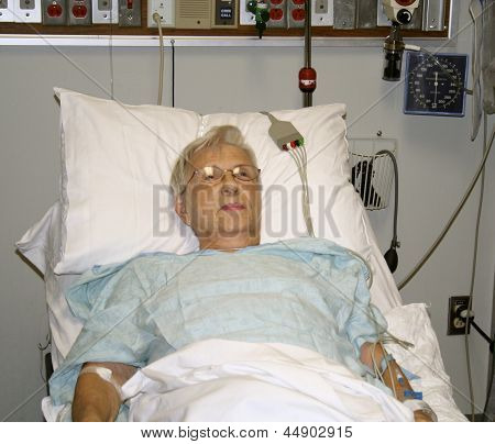 Senior healthcare patient