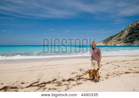Retired Man With His Dog