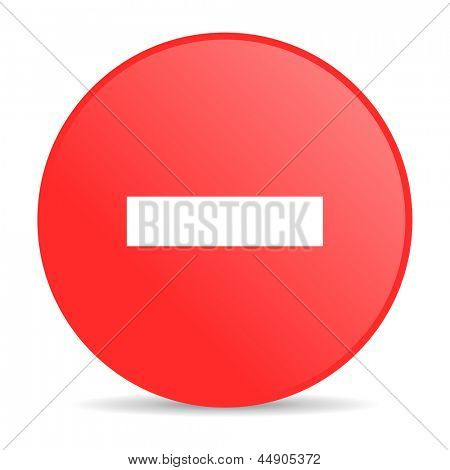 minus red circle web glossy icon