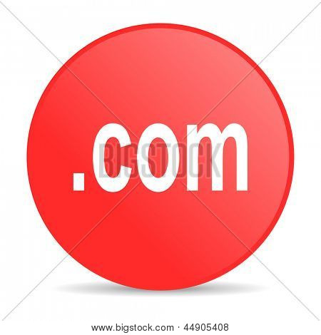 com red circle web glossy icon
