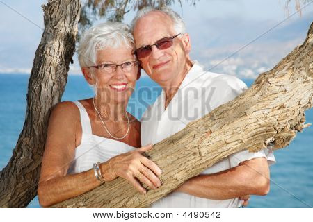Happy Elderly Couple In Love