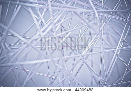 Background With Tangled Metal Wire