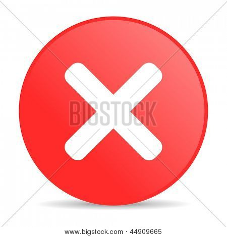 cancel red circle web glossy icon