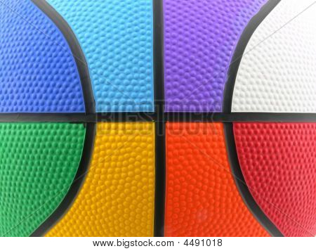 Raimbow Colored Basket Ball Background