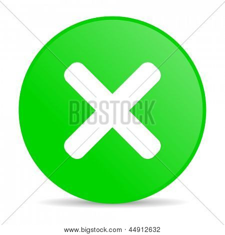 cancel green circle web glossy icon