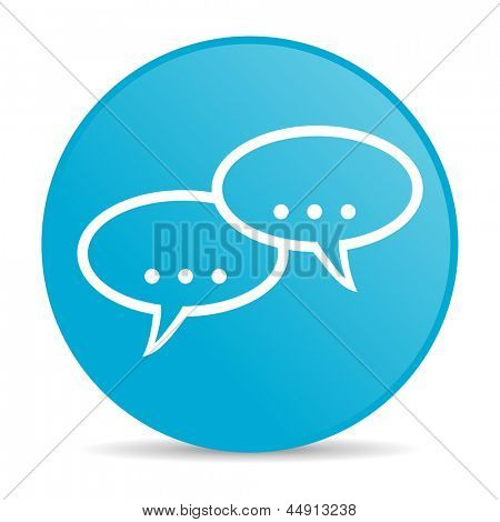 forum blue circle web glossy icon