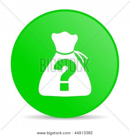 riddle green circle web glossy icon