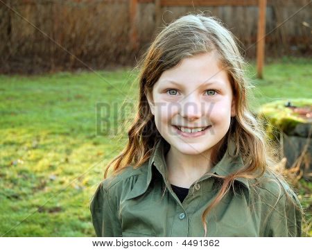 Child Female Smiling Outdoors