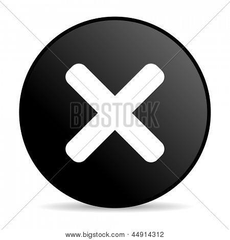 cancel black circle web glossy icon