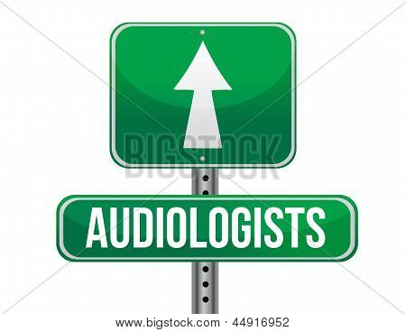Audiologist Road Sign Illustration Design