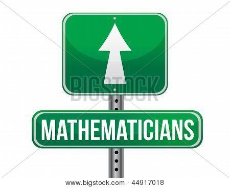 Mathematicians Road Sign Illustration Design
