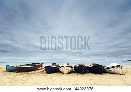 Fishing Boats On Bournemouth Beach
