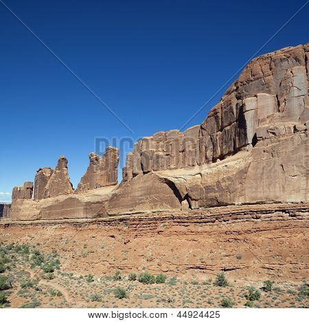Red Rocks In Arches National Park