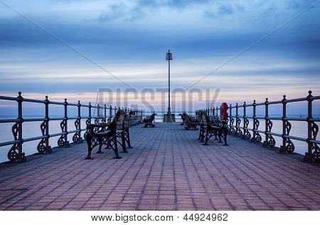 Sunrise At The Banjo Pier At Swanage