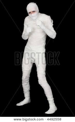 Egyptian Mummy On A Black Background