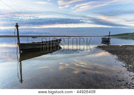 Fishing Boats On The Fleet Lagoon