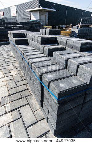 Pile Of Pavement Bricks