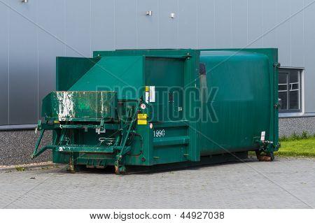 Skip For Compressing Waste