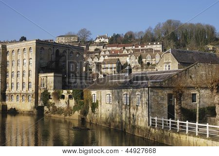 Riverside At Bradford On Avon. UK