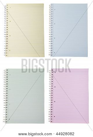 Four Blank Notebooks