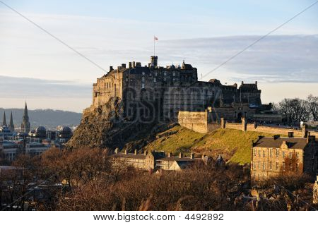 Edinburgh Castle From The South East In Winter Afternoon Light