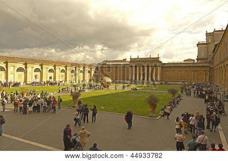 Courtyard Of Vatican Museum