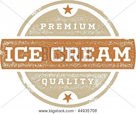 Vintage Premium Ice Cream Sign
