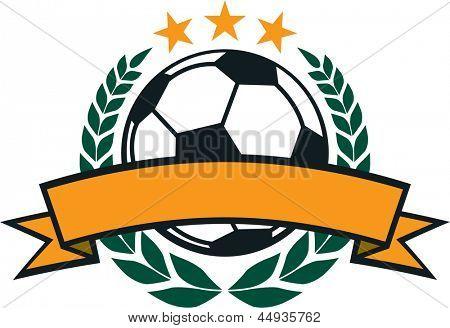 Soccer Laurel Wreath Crest
