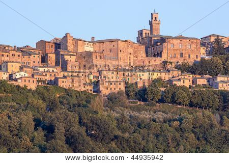 Panorama Of Old Town Of Montepulciano, Tuscany