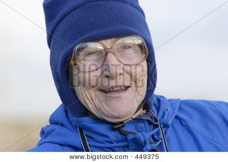 Elderly Woman Laughing