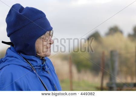 Elderly Woman Staring