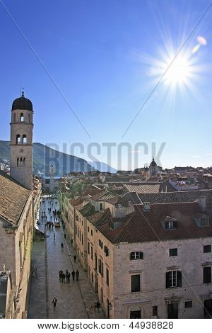 Stradun, Main Street Of Old Town, Dubrovnik, Croatia