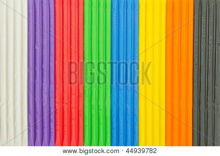 Background Of Brightly Coloured Modelling Clay