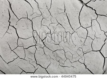 surface cracked clay ground background