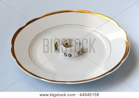 Roll Of Centimeter On Chinaware