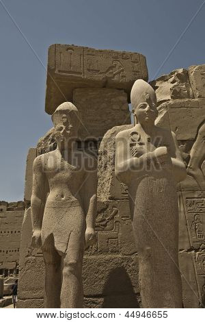 Colossal statues at Karnak Temple
