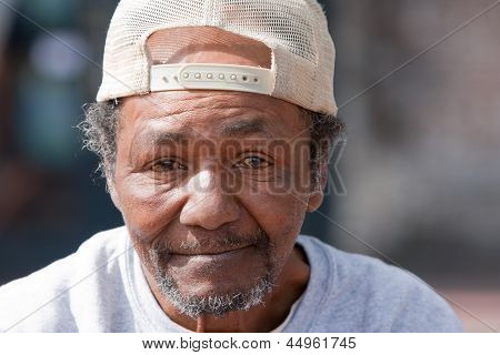 Old Homeless African American Man