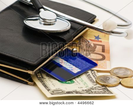 Stethoscope And Wallet