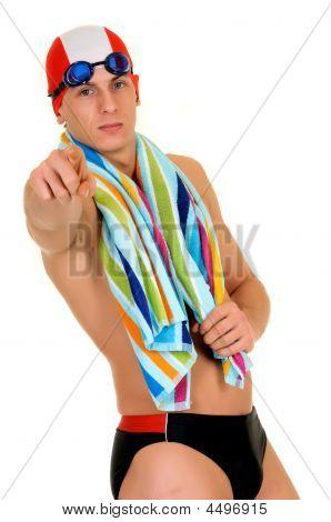 Athlet, Schwimmer Handtuch