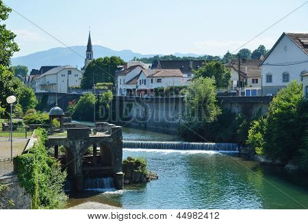 Summer View Of The Basque Town Mauleon-licharre