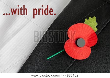 Poppy Appeal, Remembrance Sunday - '...With Pride.'