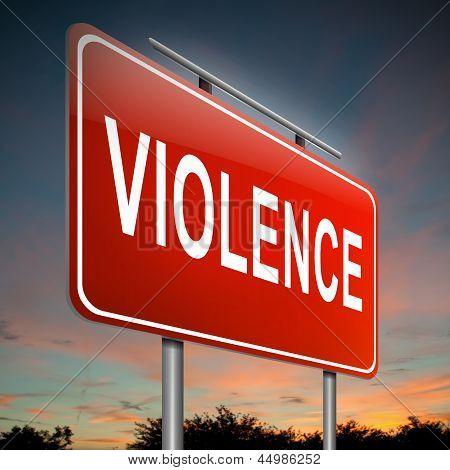 Violence Concept.