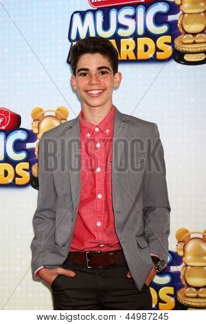 LOS ANGELES - APR 27:  Cameron Boyce arrives at the Radio Disney Music Awards 2013 at the Nokia Theater on April 27, 2013 in Los Angeles, CA