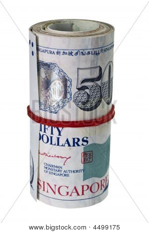 Bundle Of Singapore Currency