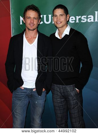 LOS ANGELES - JAN 06:  David Lyons & JD Pardo arrives to the NBC All Star Winter TCA 2013  on January 06, 2013 in Pasadena, CA